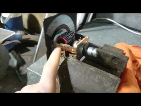 Winding a Land Rover odometer back with compressed air