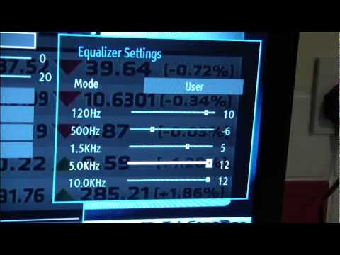 Adjusting your TV sound using the on-board EQ
