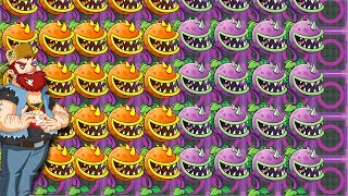 5 Chompers Strategy Power UP Plants vs Zombies 2 #PVZGameplay O Sun Max Level Chomper Premium Plant