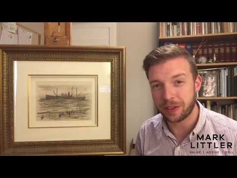 A quick look at an original pencil drawing by L W LOWRY with Mark Littler