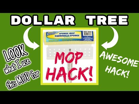 Dollar Tree MOP HACK!!! LOOK what I use this MOP for