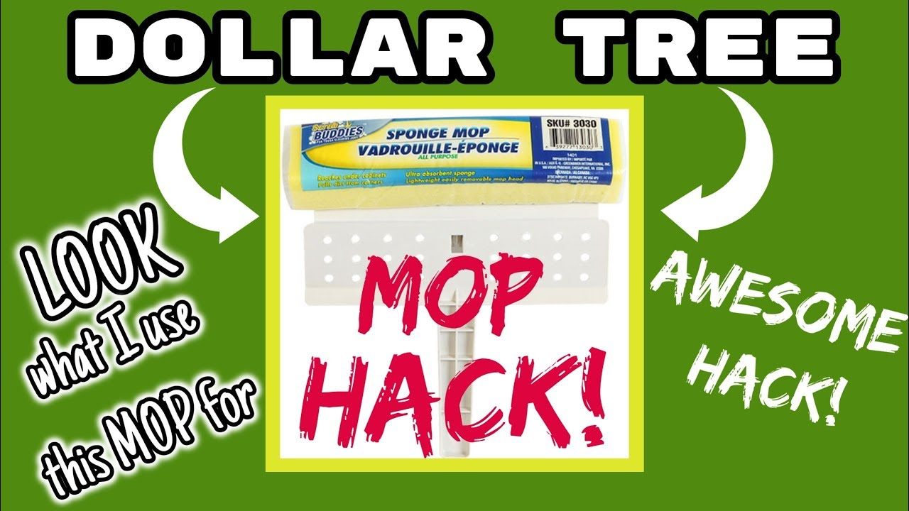 Dollar Tree Mop Hack Look What I Use This Mop For Youtube