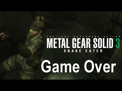 Game Over: Metal Gear Solid 3: Snake Eater (Death Animations)