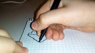 рисуем МОРОЖЕНОЕ ПО КЛЕТКАМ ! урок рисования