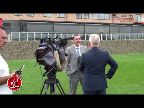 Uwe Rosler meets the press at Fleetwood Town