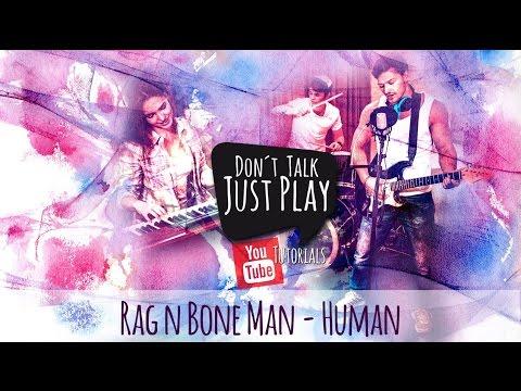 RAG `N´BONE MAN - HUMAN - How to play on Guitar-Tutorial-Lyricsvideo+Chords+Tabs+GuitarPro
