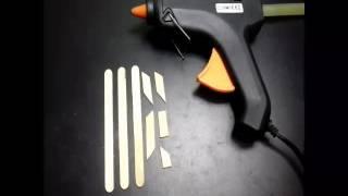 DIY Cara membuat miniatur pesawat terbang mudah dari 5 buah stik eskrim #1| how to make miniatur