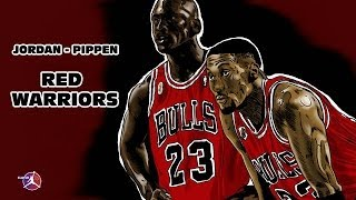 MICHAEL JORDAN SCOTTIE PIPPEN - RED WARRIORS