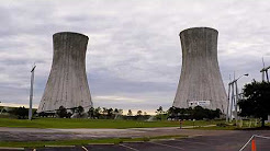 Implosion of the twin cooling towers at the St. Johns River Power Park