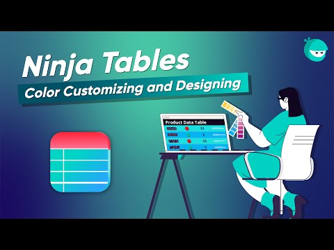 How To Color a WordPress Table Without Coding!