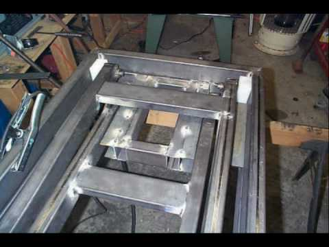 Building a motorcycle lift table youtube Car lift plans