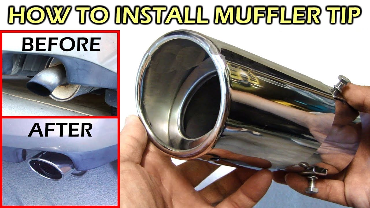 Install Stainless Steel Chrome Muffler Tip Youtube 1995 Subaru Legacy Engine Diagram