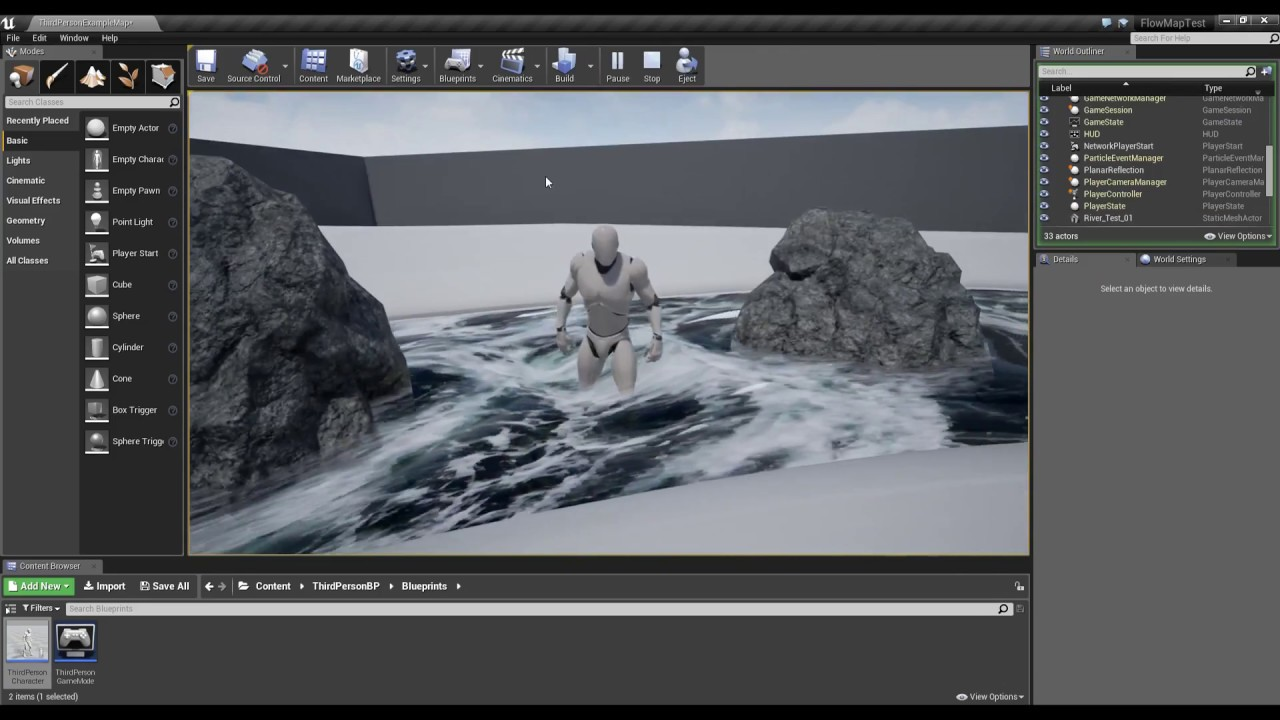 How to Make Dynamic Flowing Water in UE4?