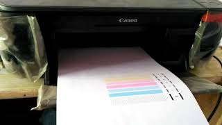 Canon pixma mp287 deep cleaning II Nozzle check II Head cleaning , Poor quality printing (Solution)