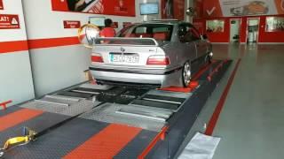 1997 model BMW 320i OTORAPOR test hattında dyno