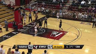 EWU WBB Highlights vs. Idaho (Jan 12, 2018).