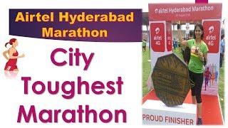 Airtel Hyderabad Marathon 2018 Toughtest Half Marathon 21.1 km Running for beginners  Monica Josan