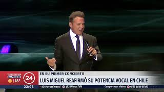 Luis Miguel volvió a brillar en Chile