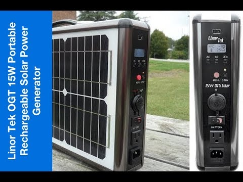 Linor Tek OTG 15W Portable & Rechargeable Solar Power Generator