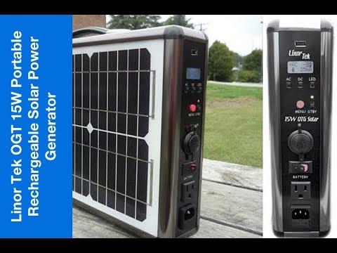 Linor Tek OTG 15W Portable & Rechargeable Solar Power Generator