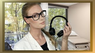 ASMR HEARING TEST EAR CLEANING EAR TO EAR BREATHY WHISPER