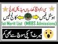 1st Merit List of CMH Khariyan Medical College !! Annual College/Hostel Fee