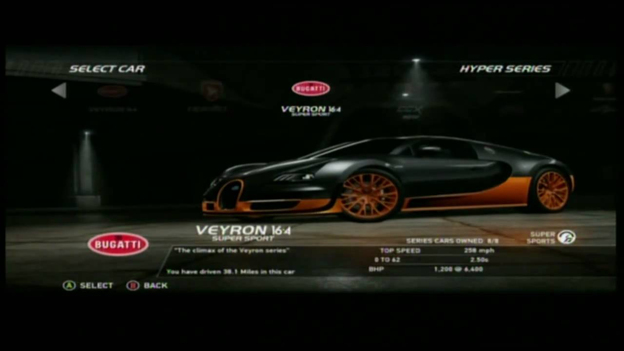 need for speed hot pursuit bugatti veyron 16 4 supersport youtube. Black Bedroom Furniture Sets. Home Design Ideas