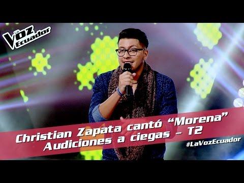 "Christian Zapata cantó ""Morena"" - Audiciones a ciegas - T2 - La Voz Ecuador"