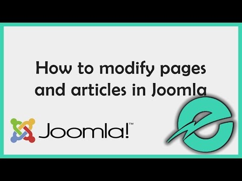 How To Change Pages and Articles in Joomla