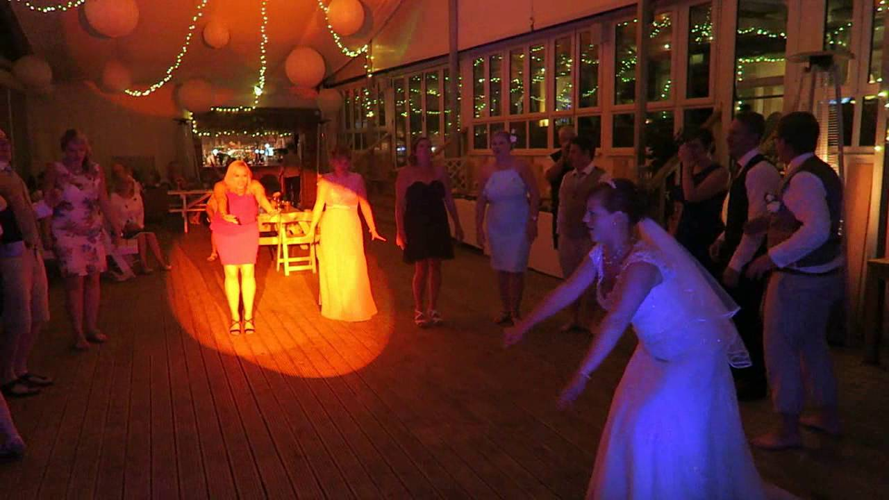 SoundONE Cornwall Wedding DJ - Lusty Glaze Beach Cafe - Mr and Mrs Sills