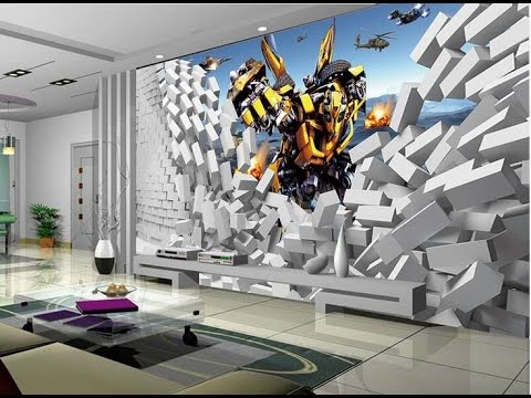 20 most stunning 3d wallpaper for walls decorating youtube for 3d mural painting tutorial