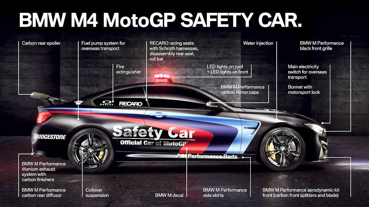 Elegant 2015 BMW M4 Coupe MotoGP Safety Car With Water Injection System