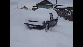 Москвич 2141 море снега!!!!!