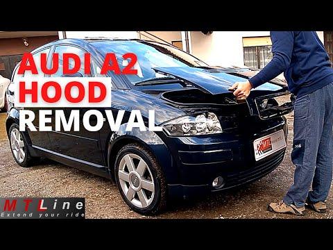 Audi A2 - how to remove/install back engine cover - kako odstranit in namestiti nazaj pokrov motorja