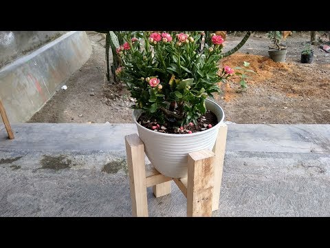 How To Make Plant Holder Using Wood - DIY Plant Stand