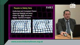 guidance on safety nets maintenance and test requirements the critical points faset