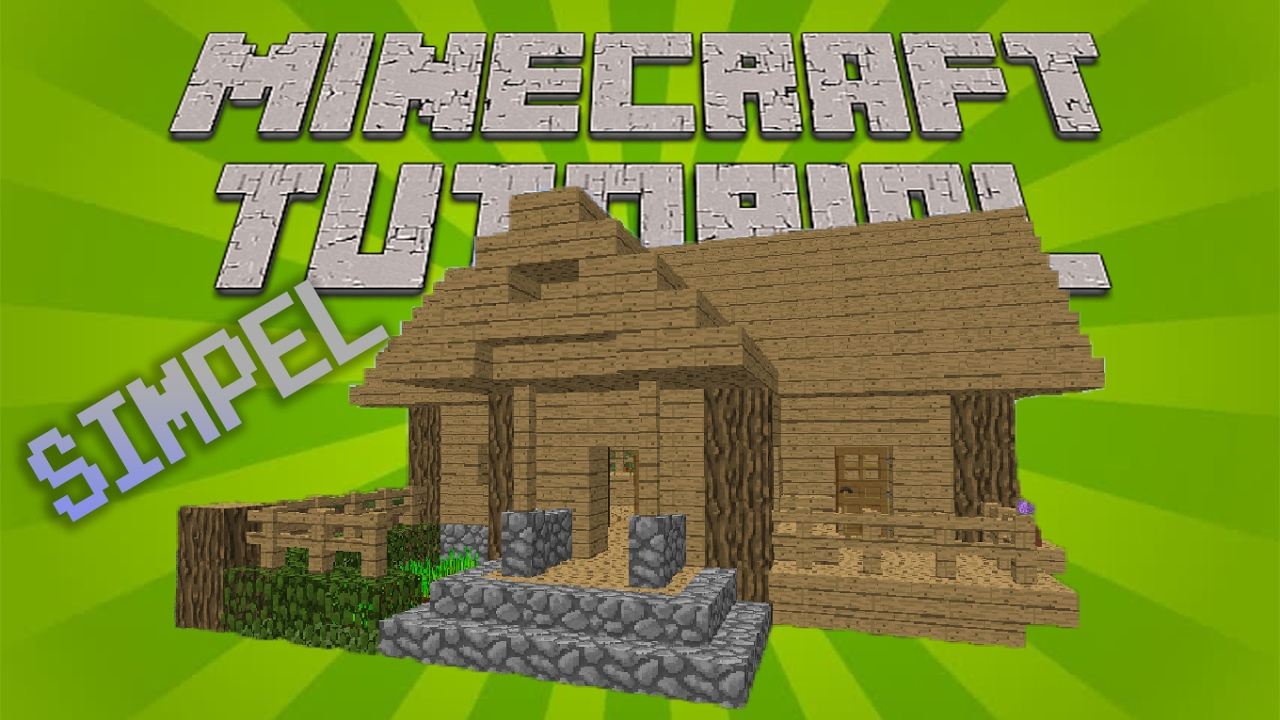 Minecraft Cara Membuat Rumah Kayu Simpel Dan Sederhana Minecraft