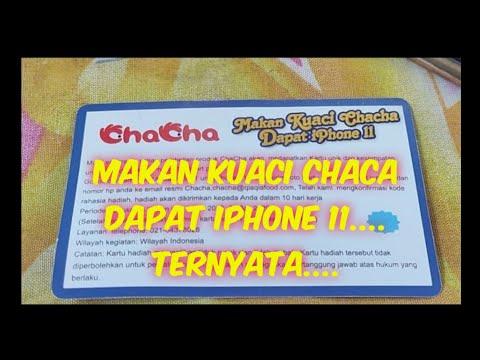 makan-kuaci-chaca-dapat-iphone-11
