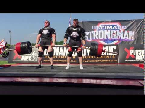 Marius Lalas & Vytautas Lalas Double Deadlift at Ultimate Strongman!