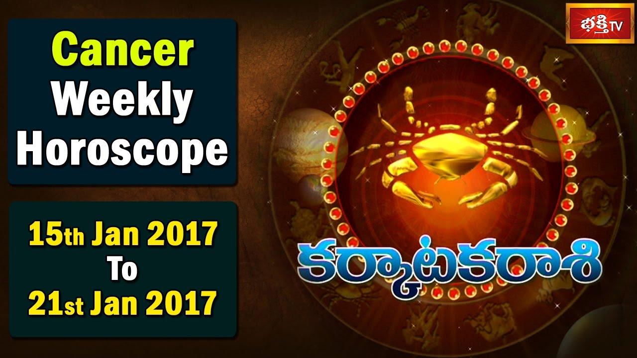 cancer weekly horoscope 21 january