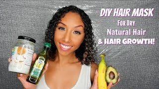 DIY Hair Mask for Dry Natural Hair and Hair Growth! | BiancaReneeToday
