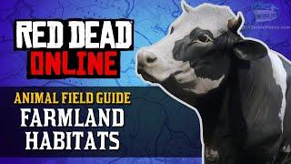 Red Dead Online - Farmland Habitats Animal Locations Guide [Naturalist Role]