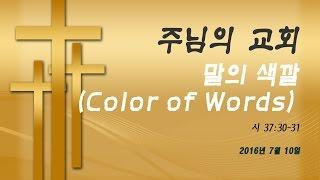 2016년 7월 10일: 말의 색깔 (Color of Words)