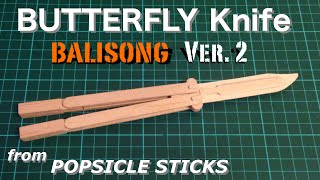 How to make a Butterfly Knife Trainer with popsicle sticks (version 2)