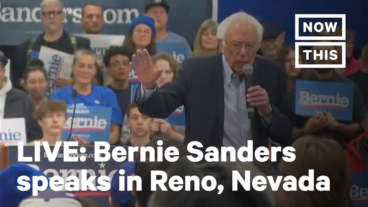 Bernie Sanders Speaks In Reno Nevada Live Nowthis Youtube