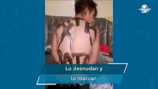 Un presunto delincuente fue golpeado y desnudado por vecinos de la colonia Puerta del Sol, en Santa Catarina, NL, al ser sorprendido robando en el domicilio de una mujer de la tercera edad