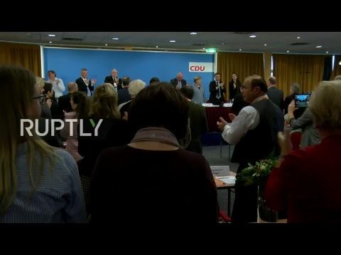 LIVE Merkel holds speech at CDU convention