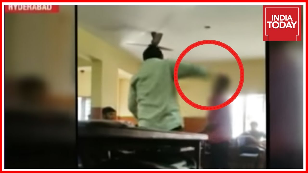 Corporal Punishment By Teacher Caught On Camera