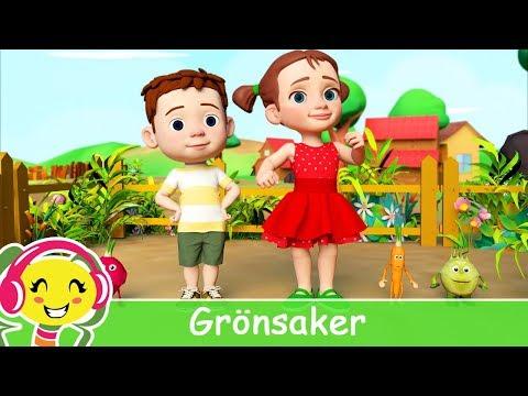 Cantec nou: Grnsaker - Barnsnger p Svenska | BarnMusikTV