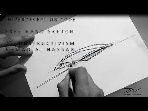 Architecture Sketch - Freehand 2017 01 -Deconstructivism -  Deconstruction Architecture Design